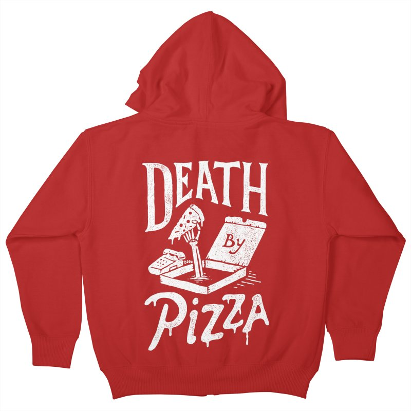Death By Pizza Kids Zip-Up Hoody by skitchism's Artist Shop