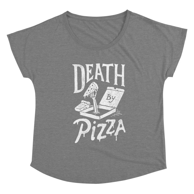 Death By Pizza Women's Scoop Neck by Tatak Waskitho