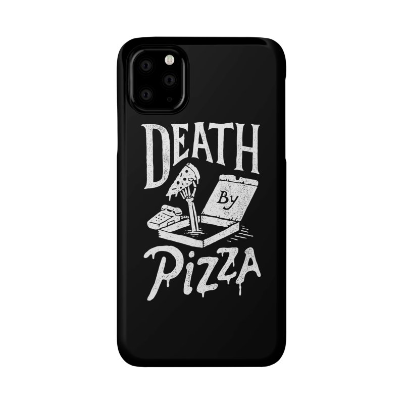 Death By Pizza Accessories Phone Case by Tatak Waskitho