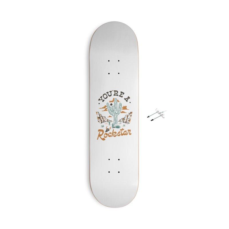 A Rockstar Accessories Skateboard by Tatak Waskitho