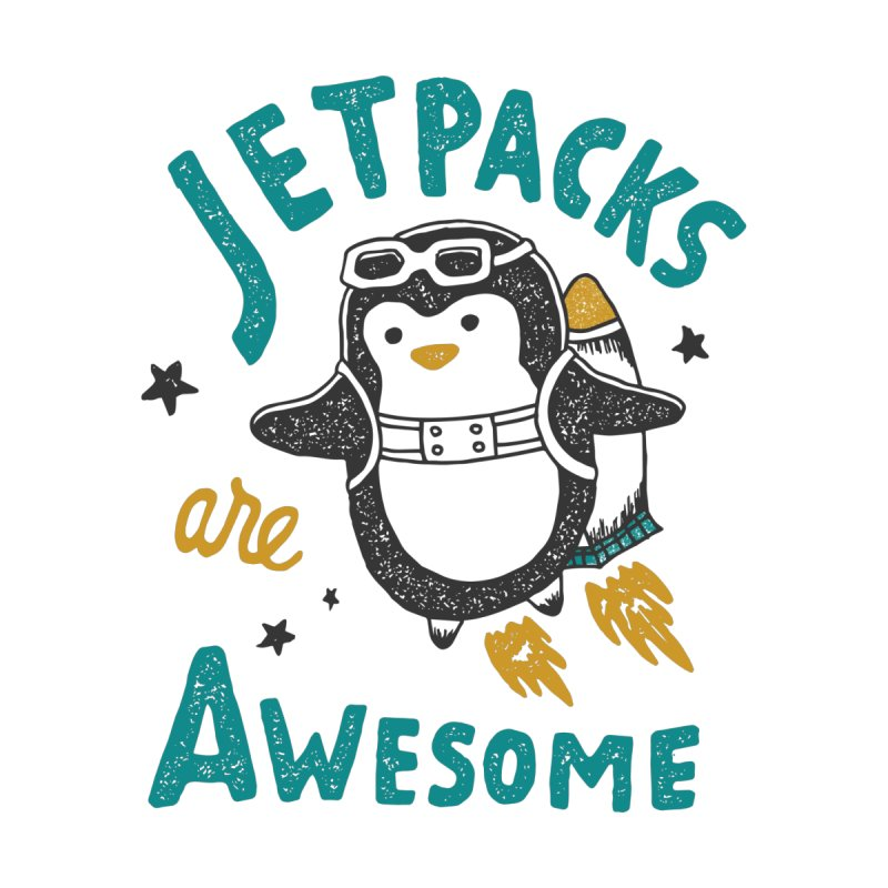 Jetpacks Are Awesome Men's Zip-Up Hoody by Tatak Waskitho