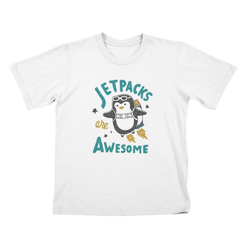 Jetpacks Are Awesome Kids T-Shirt by Tatak Waskitho
