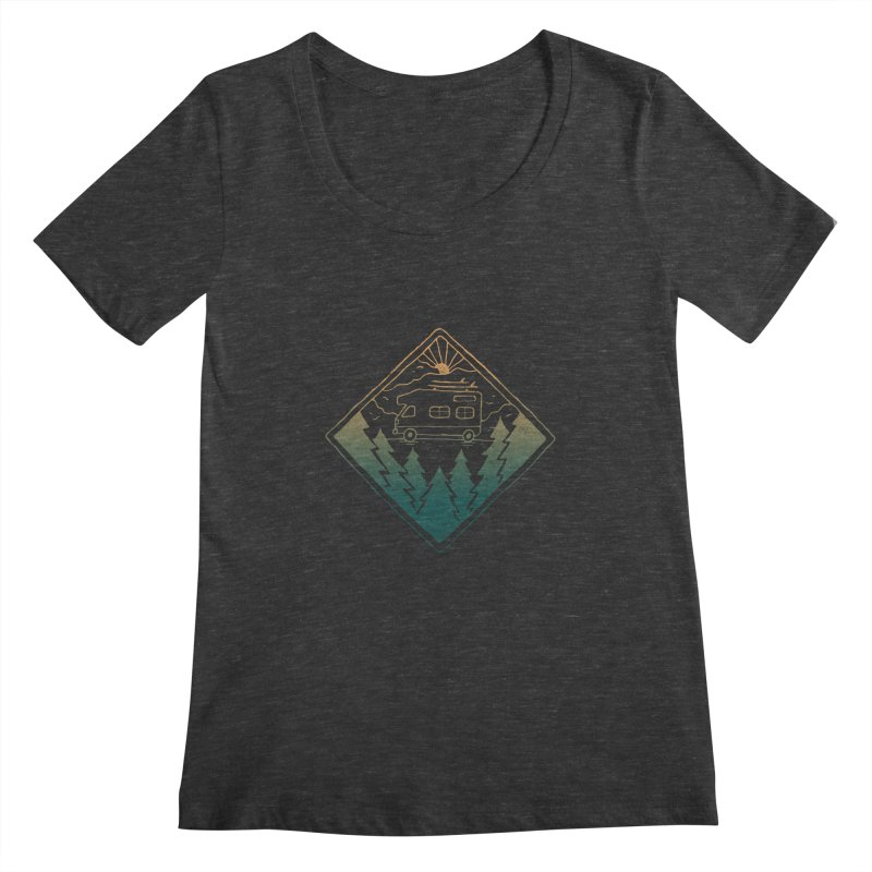 Advanture Women's Scoopneck by skitchism's Artist Shop