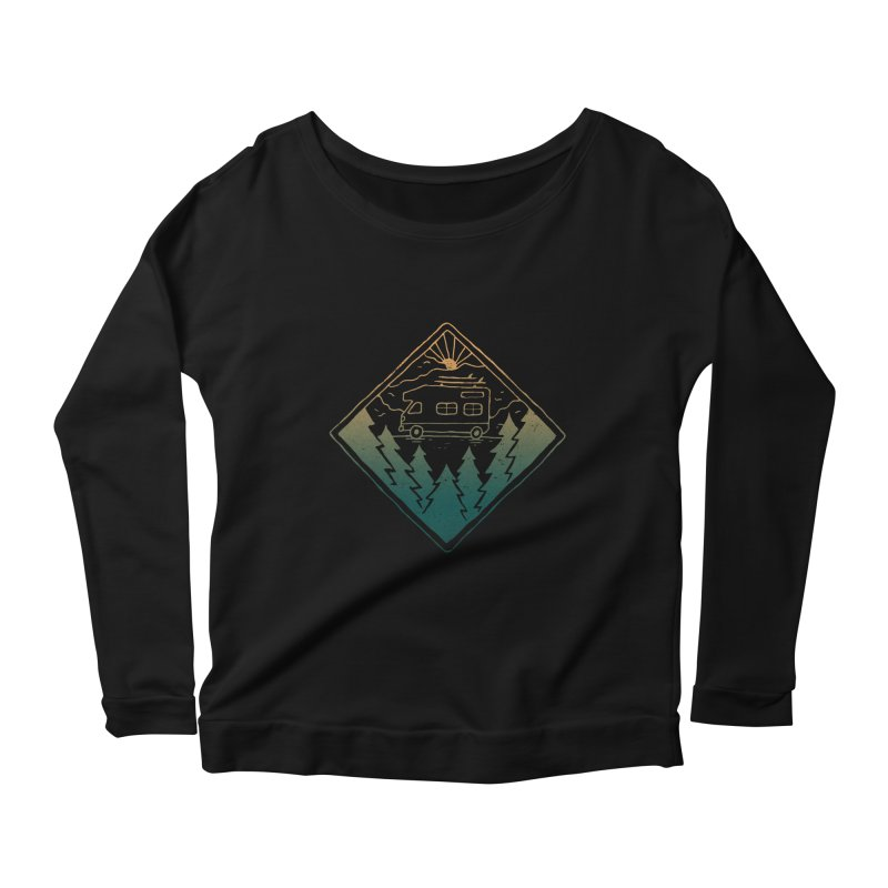 Advanture Women's Longsleeve Scoopneck  by skitchism's Artist Shop