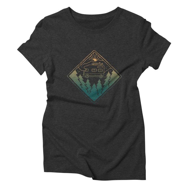 Advanture Women's Triblend T-shirt by skitchism's Artist Shop