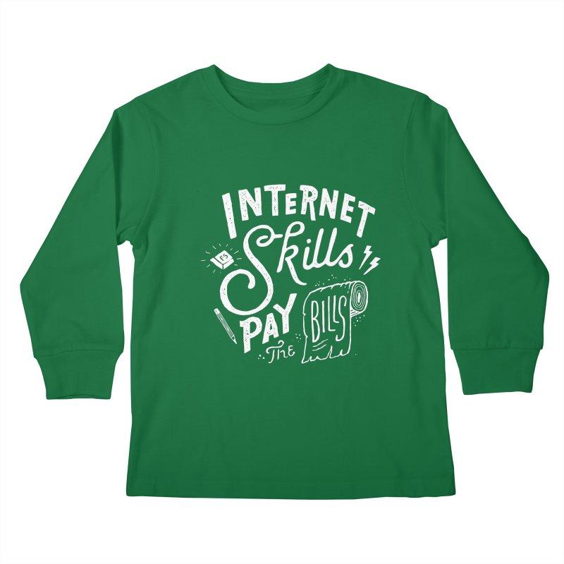 Pay The Bills Kids Longsleeve T-Shirt by skitchism's Artist Shop