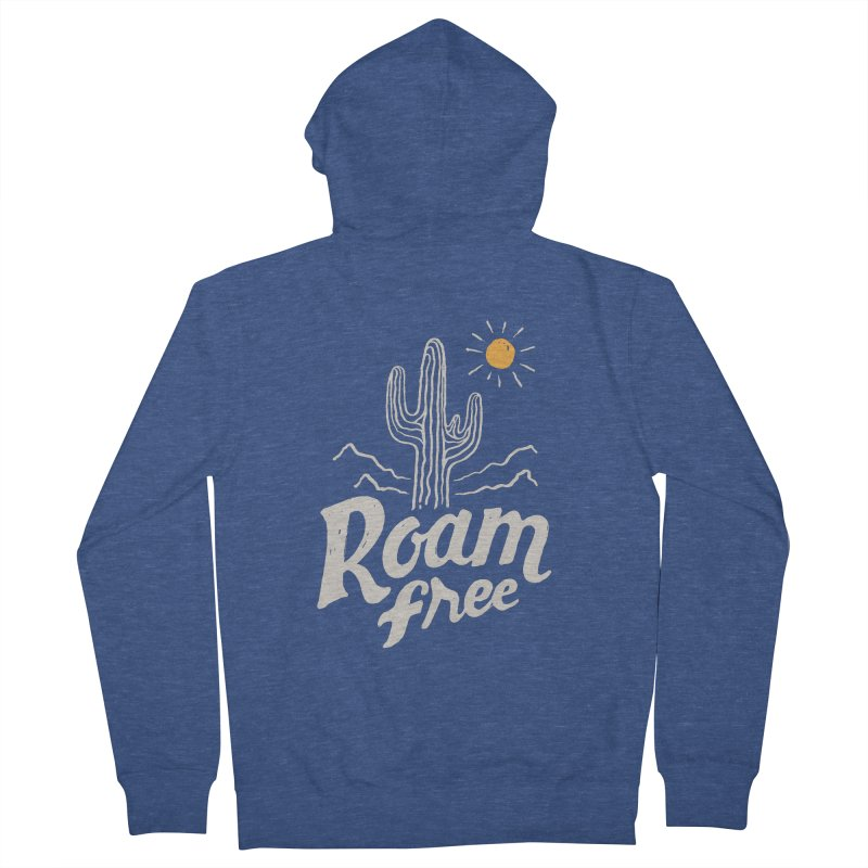 Roam Free Men's Zip-Up Hoody by skitchism's Artist Shop