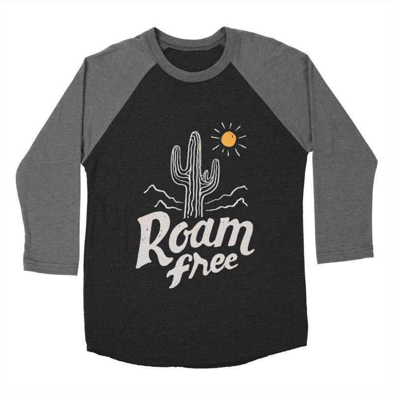 Roam Free Women's Baseball Triblend T-Shirt by skitchism's Artist Shop