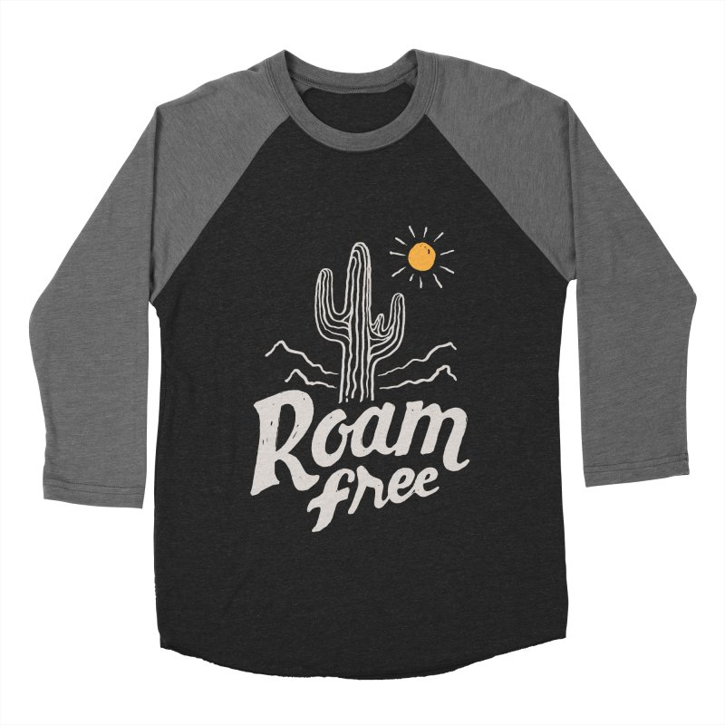 Roam Free Men's Baseball Triblend T-Shirt by skitchism's Artist Shop