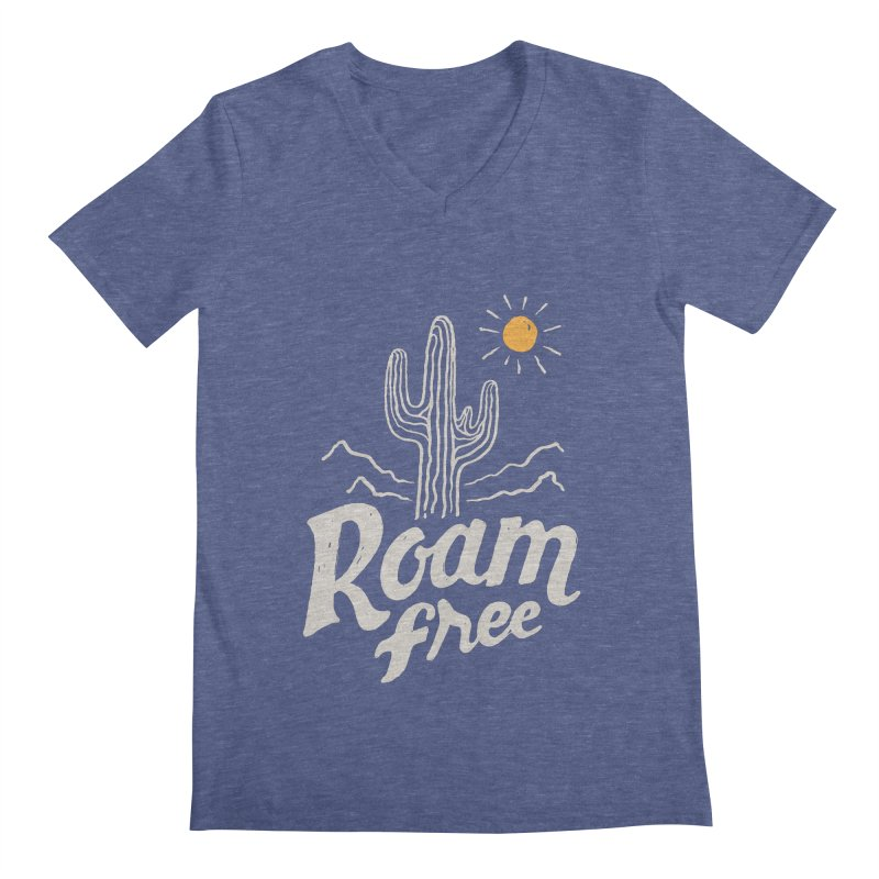 Roam Free Men's V-Neck by skitchism's Artist Shop