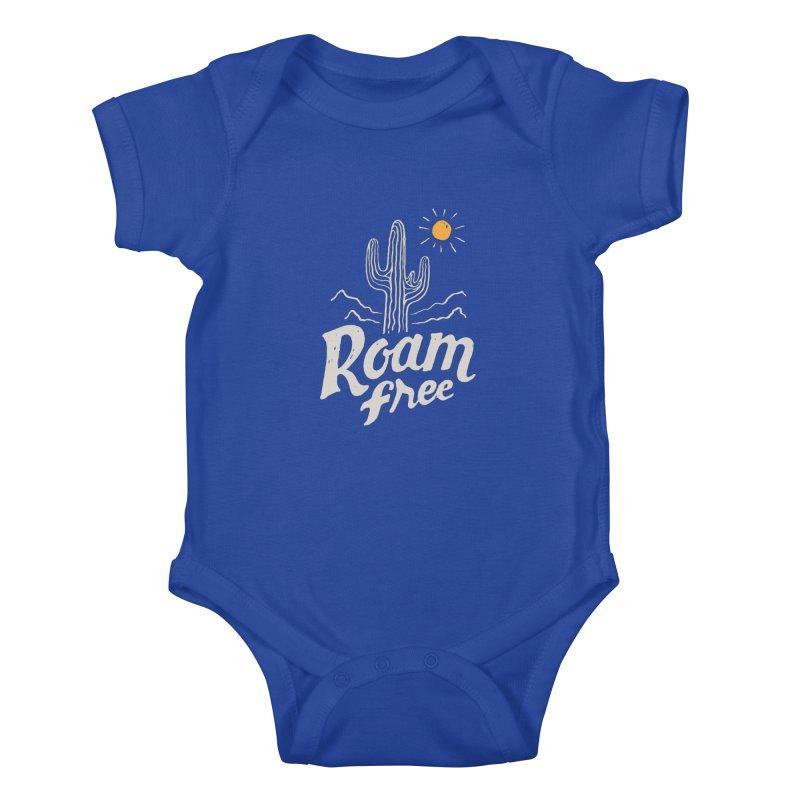 Roam Free Kids Baby Bodysuit by skitchism's Artist Shop