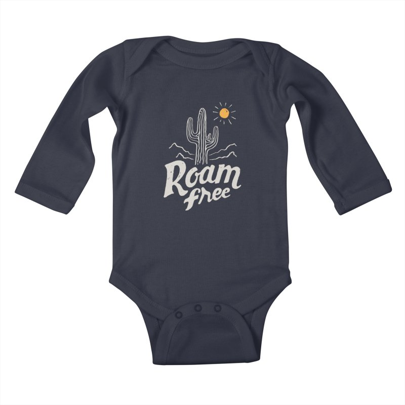 Roam Free Kids Baby Longsleeve Bodysuit by skitchism's Artist Shop