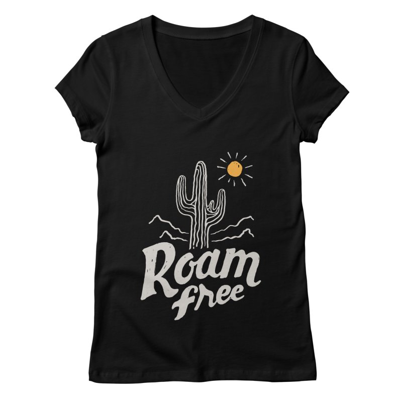 Roam Free Women's V-Neck by skitchism's Artist Shop