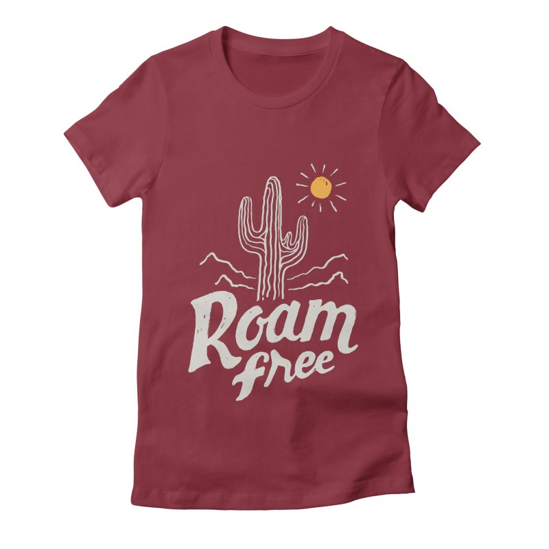 Roam Free Women's Fitted T-Shirt by skitchism's Artist Shop