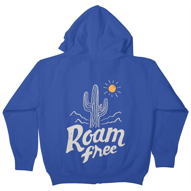 Roam Free Kids Zip-Up Hoody by skitchism's Artist Shop