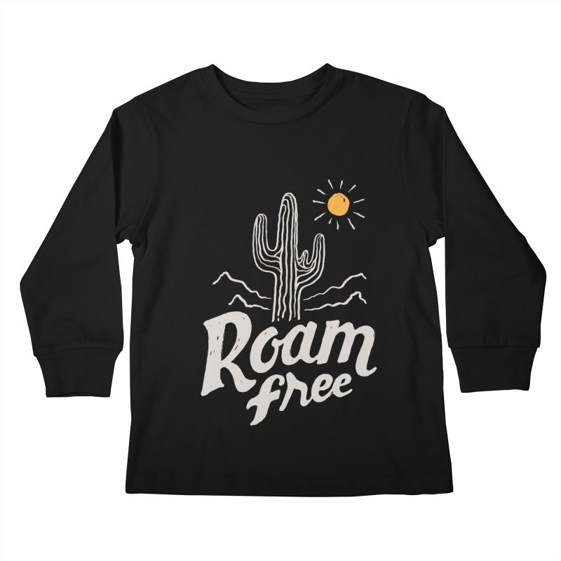 Roam Free Kids Longsleeve T-Shirt by skitchism's Artist Shop