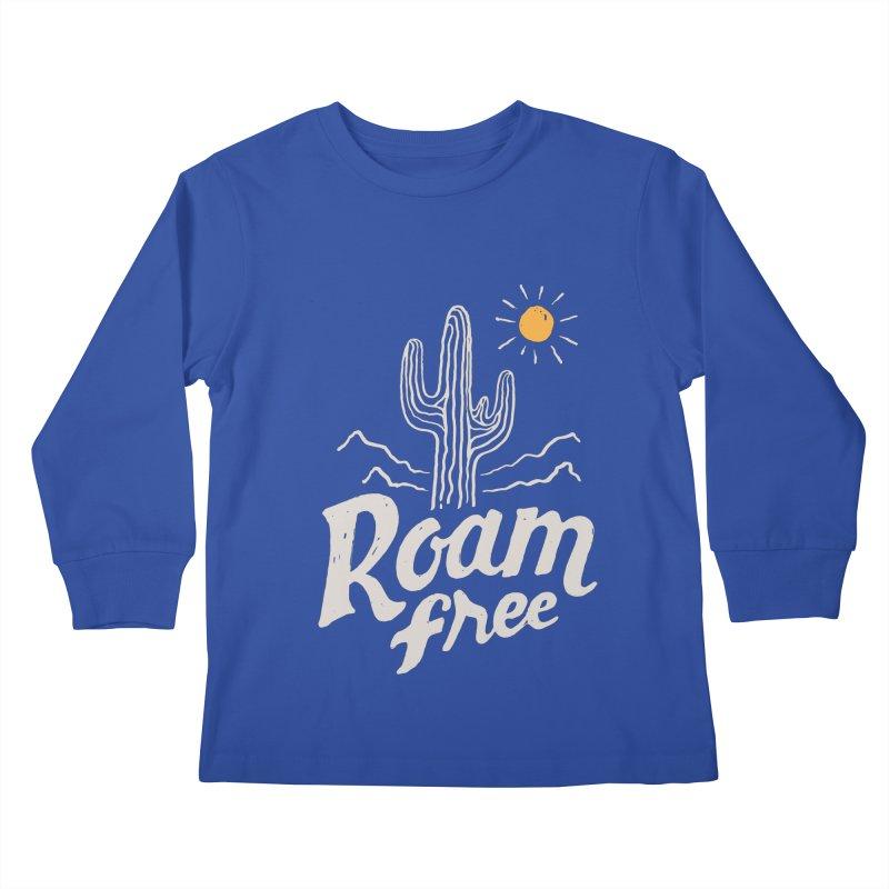 Roam Free Kids Longsleeve T-Shirt by skitchism's Artist Shop
