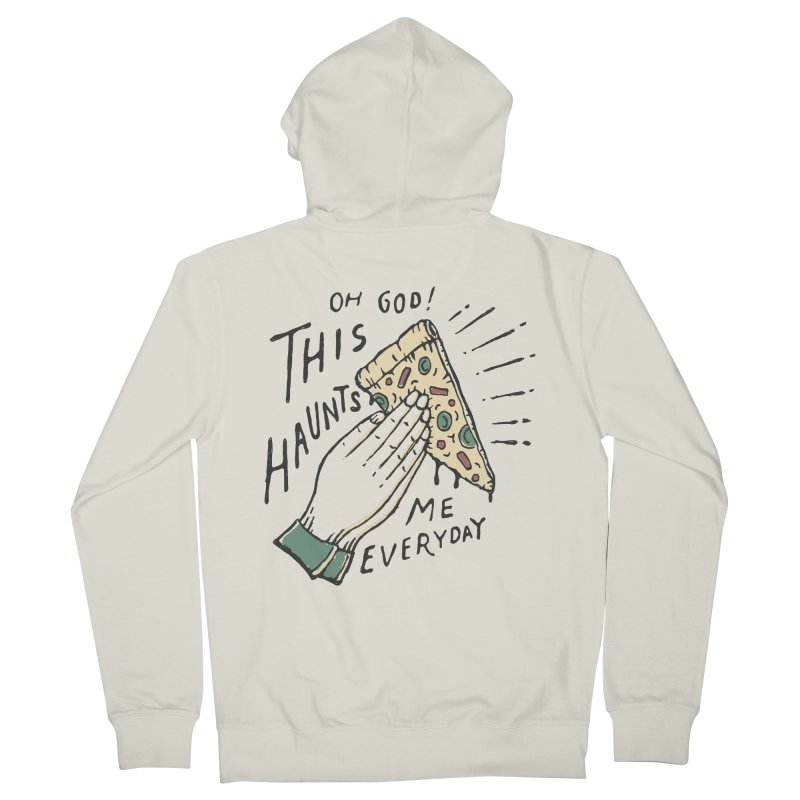 Haunts Me Men's Zip-Up Hoody by skitchism's Artist Shop