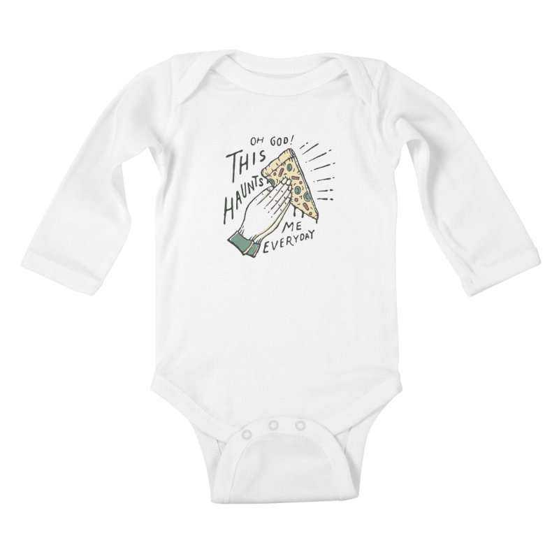 Haunts Me Kids Baby Longsleeve Bodysuit by skitchism's Artist Shop