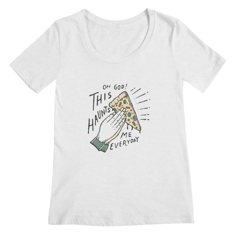 Haunts Me Women's Scoopneck by skitchism's Artist Shop