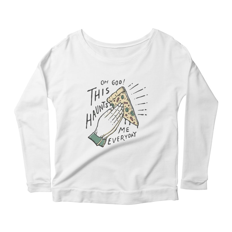 Haunts Me Women's Longsleeve Scoopneck  by skitchism's Artist Shop