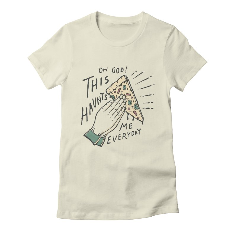 Haunts Me Women's Fitted T-Shirt by skitchism's Artist Shop
