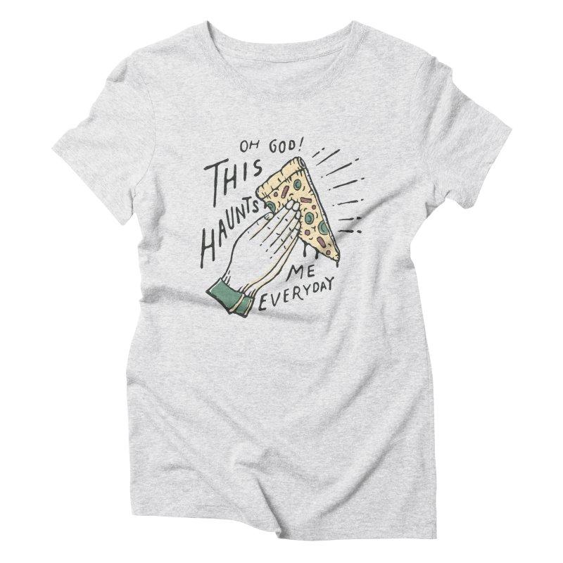 Haunts Me Women's Triblend T-shirt by skitchism's Artist Shop