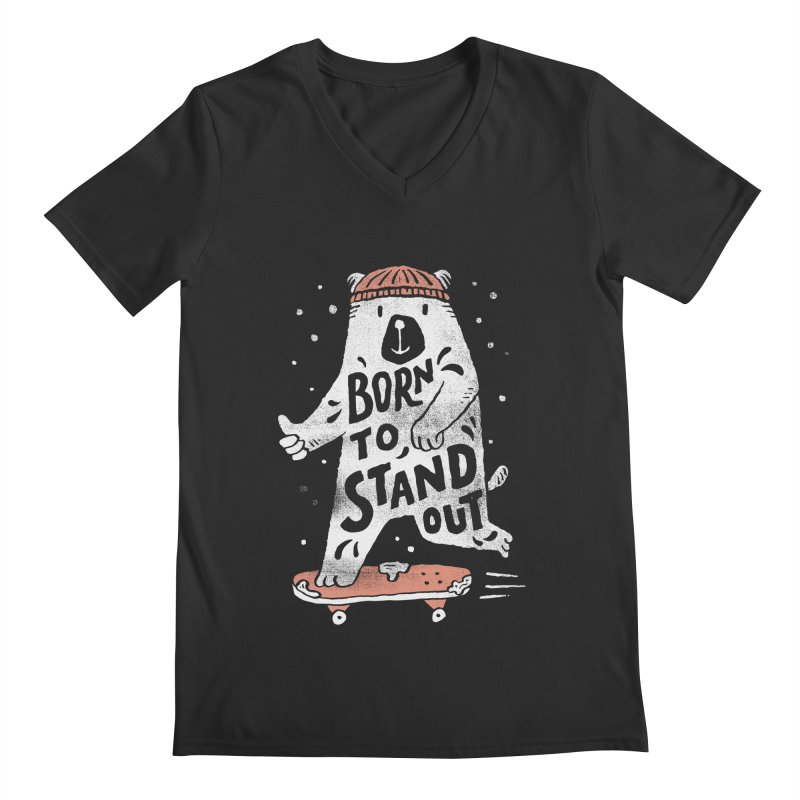 Stand Out Men's V-Neck by skitchism's Artist Shop