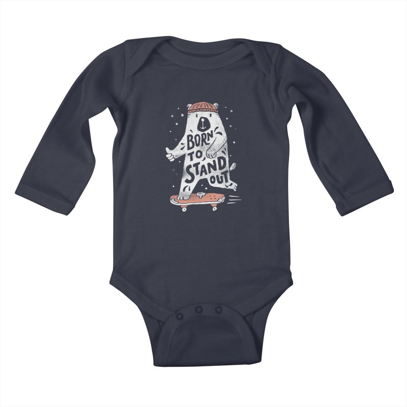 Stand Out Kids Baby Longsleeve Bodysuit by skitchism's Artist Shop