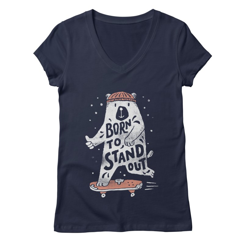 Stand Out Women's V-Neck by skitchism's Artist Shop