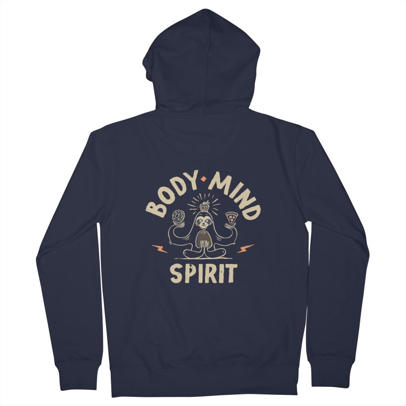 Yoga Class Men's Zip-Up Hoody by skitchism's Artist Shop