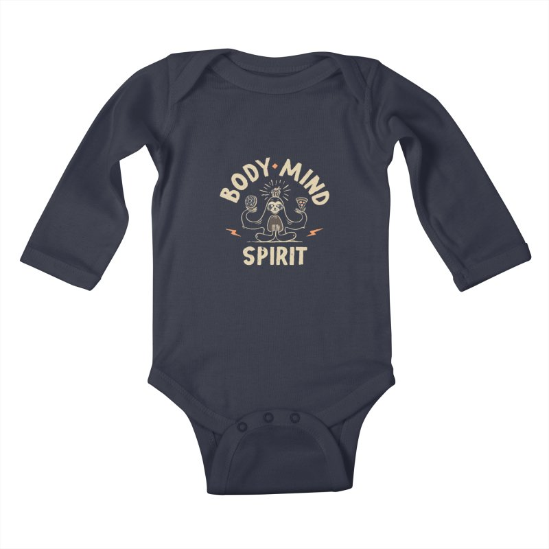 Yoga Class Kids Baby Longsleeve Bodysuit by skitchism's Artist Shop