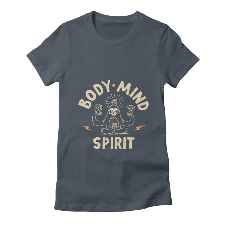 Yoga Class Women's Fitted T-Shirt by skitchism's Artist Shop