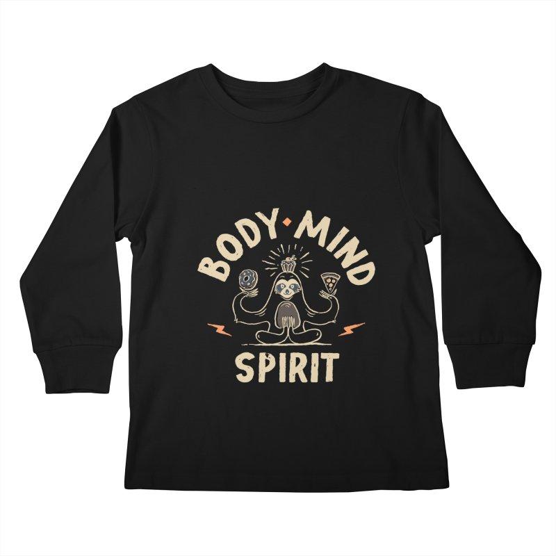 Yoga Class Kids Longsleeve T-Shirt by skitchism's Artist Shop