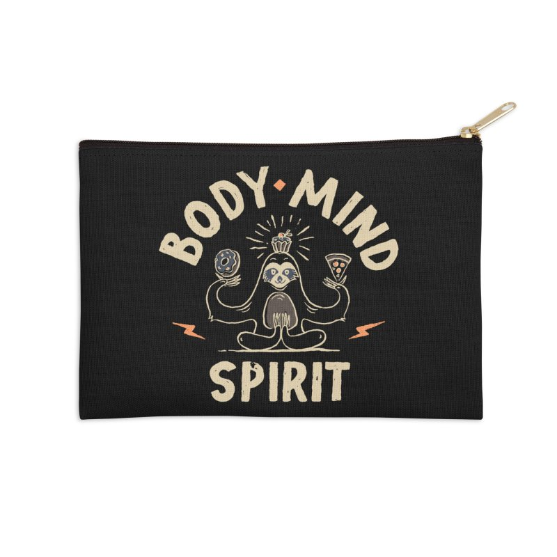 Yoga Class Accessories Zip Pouch by skitchism's Artist Shop