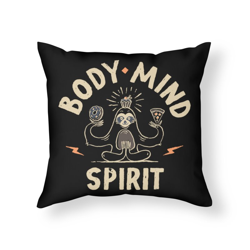 Yoga Class Home Throw Pillow by skitchism's Artist Shop