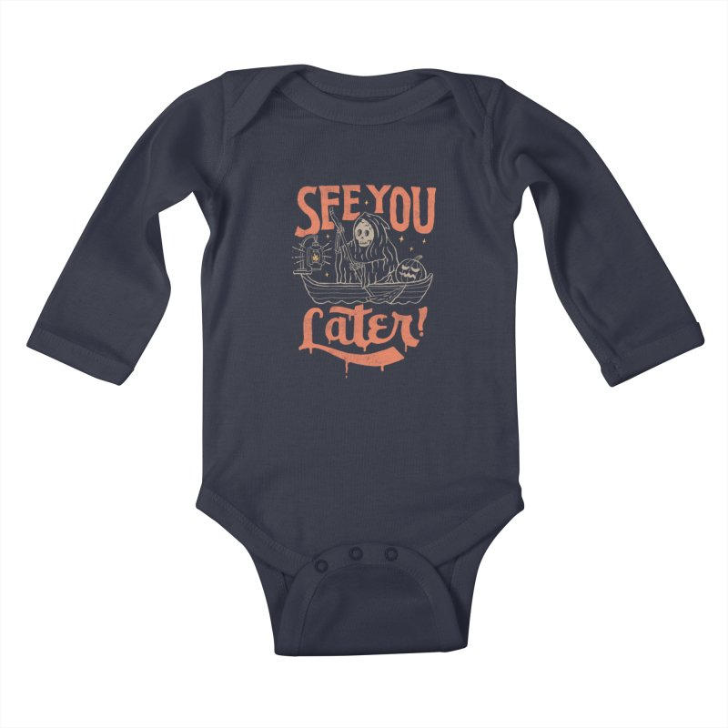 See You Kids Baby Longsleeve Bodysuit by skitchism's Artist Shop