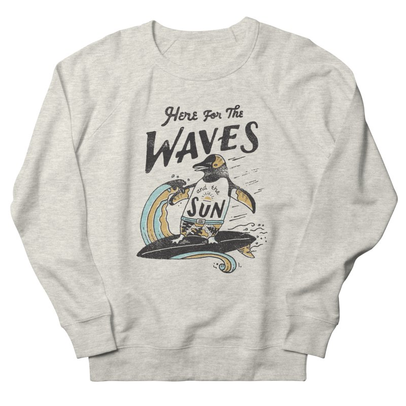 Here For Men's French Terry Sweatshirt by skitchism's Artist Shop