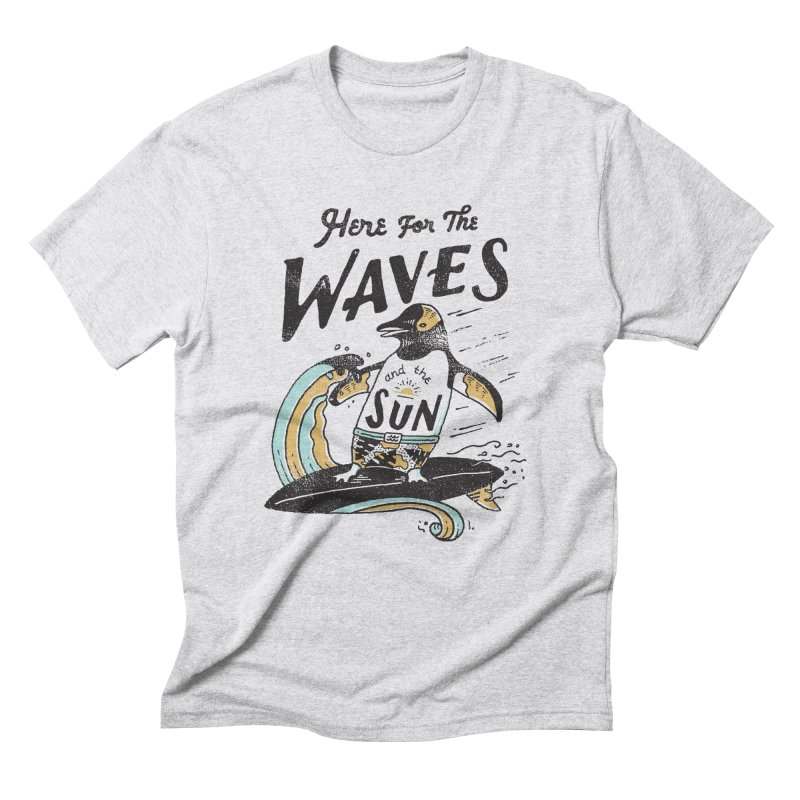 Here For Men's Triblend T-Shirt by skitchism's Artist Shop
