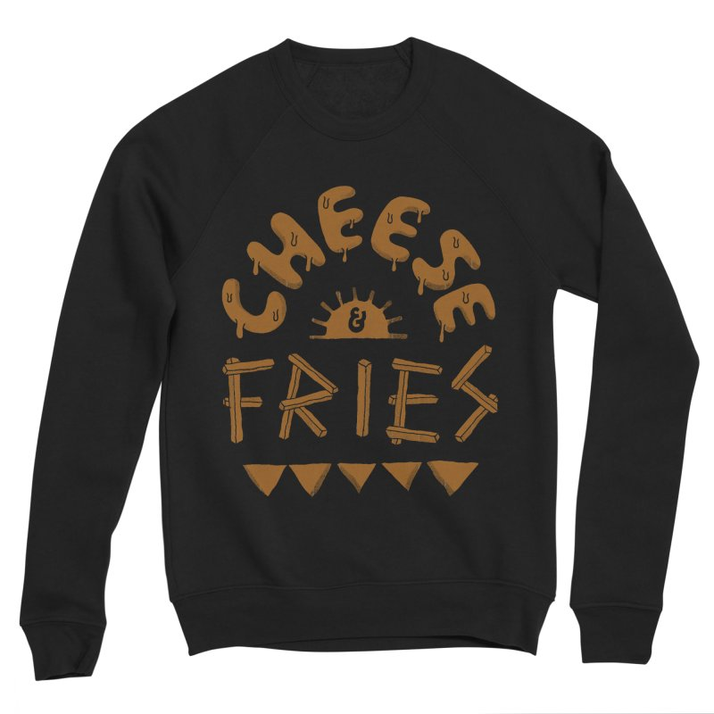 Cheese and Fries Women's Sponge Fleece Sweatshirt by skitchism's Artist Shop
