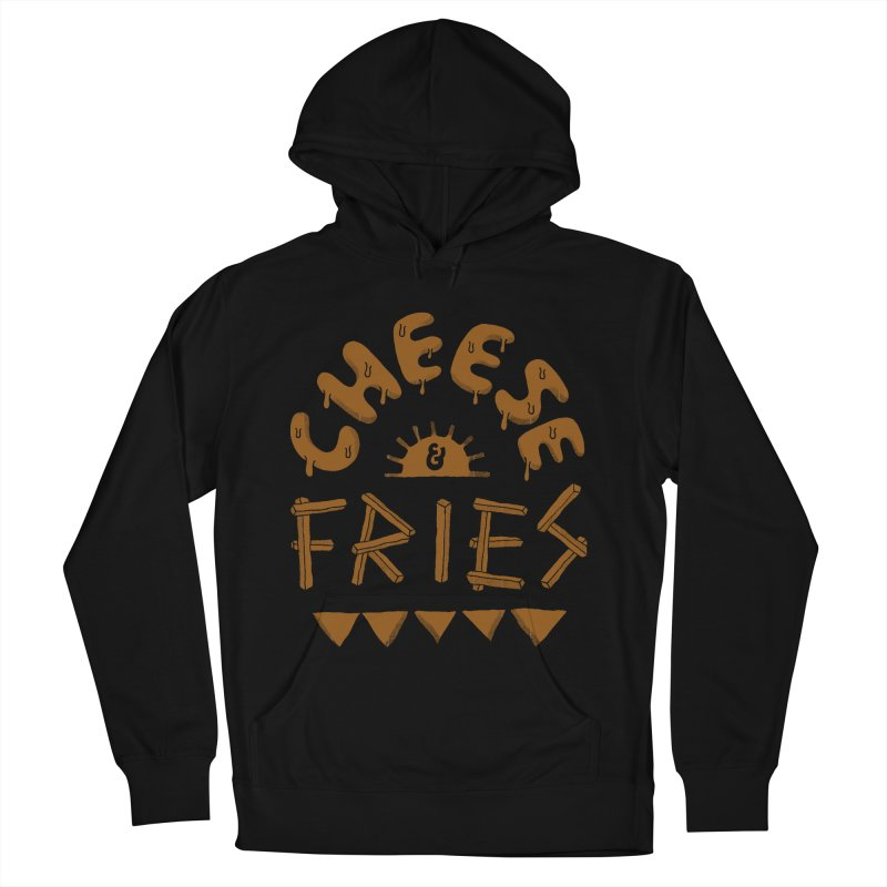 Cheese and Fries Men's French Terry Pullover Hoody by skitchism's Artist Shop