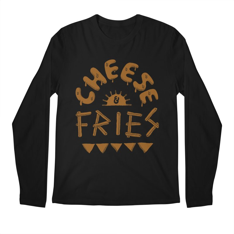 Cheese and Fries Men's Regular Longsleeve T-Shirt by skitchism's Artist Shop