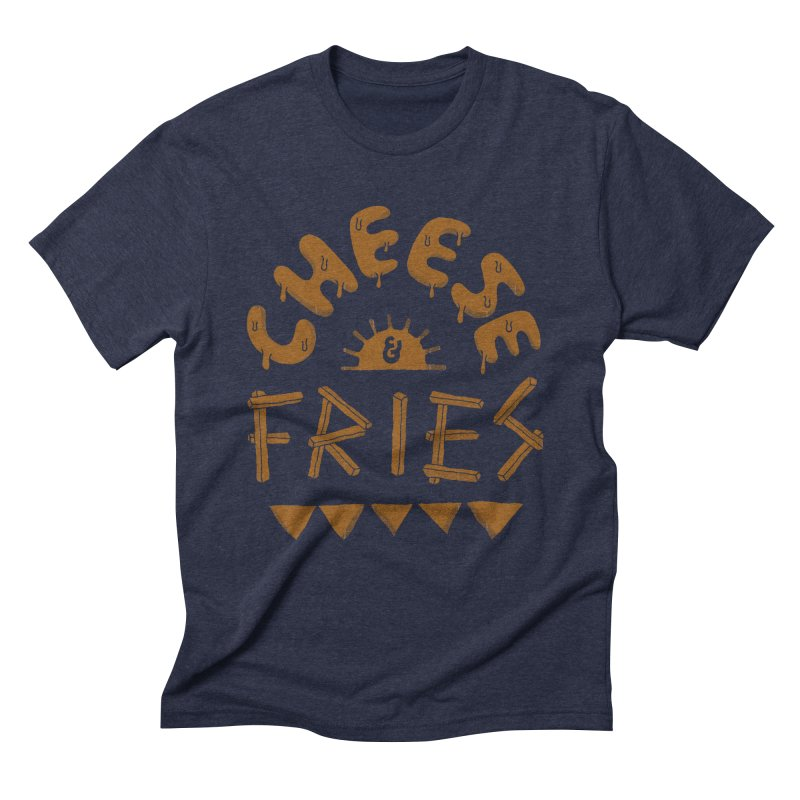 Cheese and Fries Men's Triblend T-Shirt by skitchism's Artist Shop