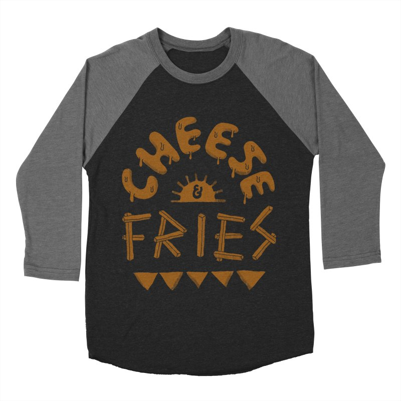 Cheese and Fries Men's Baseball Triblend Longsleeve T-Shirt by skitchism's Artist Shop