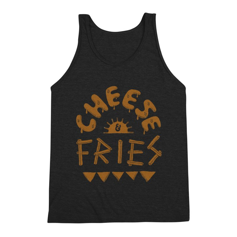 Cheese and Fries Men's Tank by Tatak Waskitho