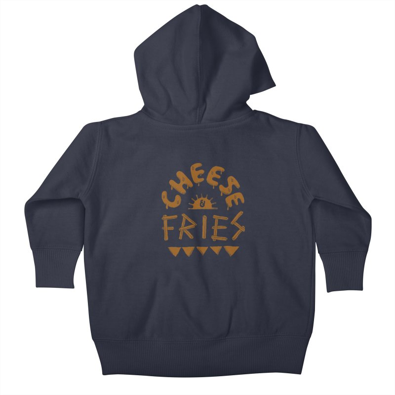 Cheese and Fries Kids Baby Zip-Up Hoody by skitchism's Artist Shop