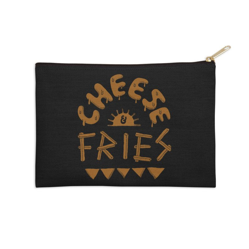 Cheese and Fries Accessories Zip Pouch by skitchism's Artist Shop