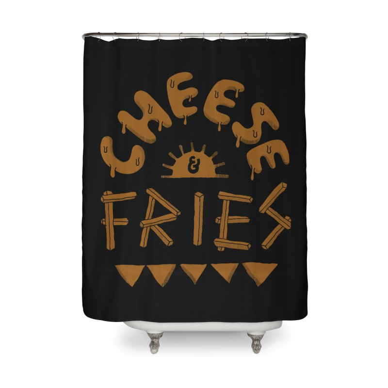 Cheese and Fries Home Shower Curtain by skitchism's Artist Shop