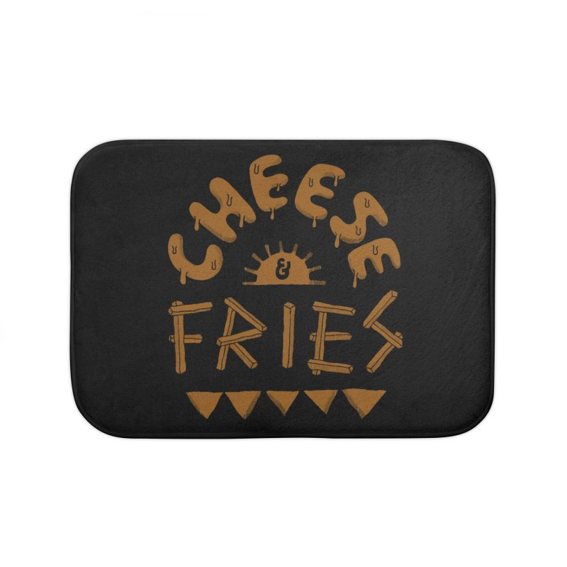 Cheese and Fries Home Bath Mat by skitchism's Artist Shop
