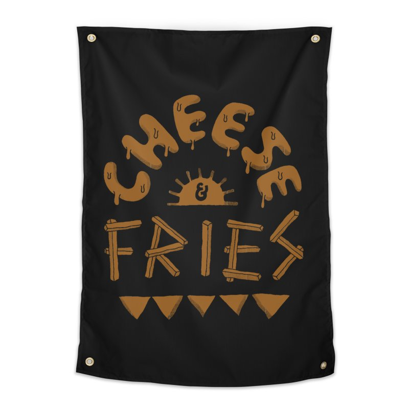 Cheese and Fries Home Tapestry by skitchism's Artist Shop